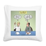 Meaningless Motions Square Canvas Pillow
