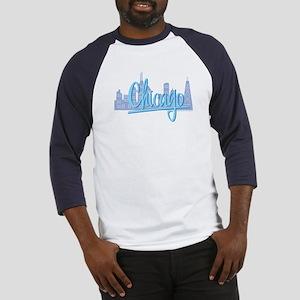 Chicago Light Blue Script in Skyline Baseball Jers