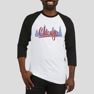 Chicago Red Script in Skyline Baseball Jersey