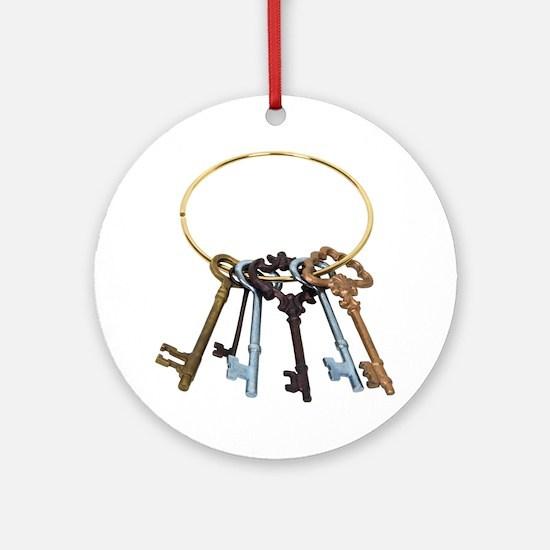 Key Chain Antique Ornament (Round)