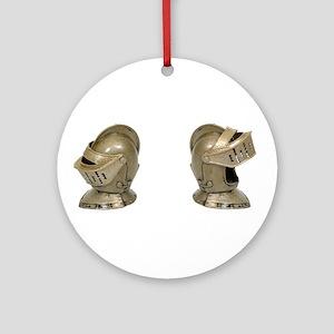 Knight Helm Ornament (Round)