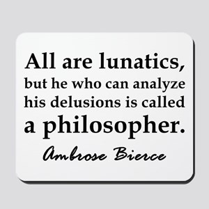 Bierce Philosophers Mousepad