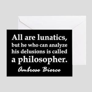 Bierce Philosophers Greeting Card