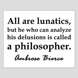 Bierce Philosophers Small Poster
