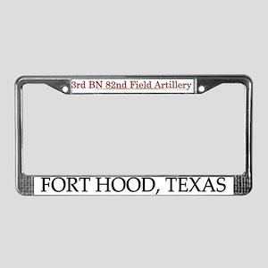 3rd Bn 82FA License Plate Frame