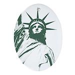 New York Souvenir Ornament (Oval)