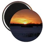 """Winter Sunset 0246 2.25"""" Magnet (10 pack)"""