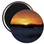 "Winter Sunset 0246 2.25"" Magnet (10 pack)"