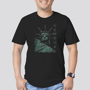 New York Souvenir Men's Fitted T-Shirt (dark)