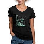 New York Souvenir Women's V-Neck Dark T-Shirt