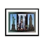 New York Souvenir Framed Panel Print