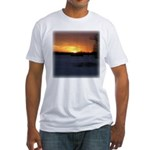 Winter Sunset 0246 Fitted T-Shirt
