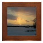 Winter Sunset 0239 Framed Tile