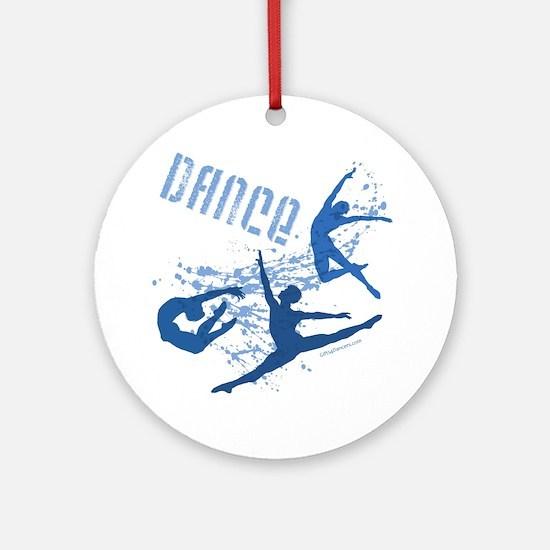 Dance (blue) Ornament (Round)