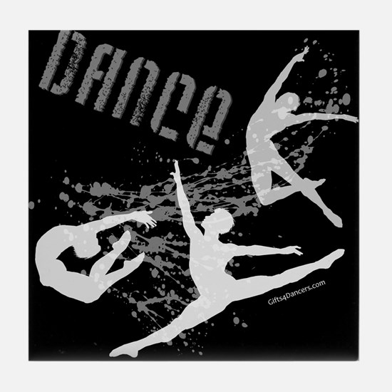 Dance (black) Tile Coaster