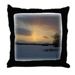 Winter Sunset 0239 Throw Pillow