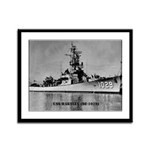 USS HARTLEY Framed Panel Print