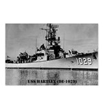 USS HARTLEY Postcards (Package of 8)