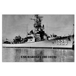 USS HARTLEY Large Poster