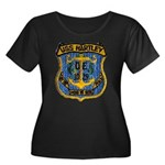 USS HART Women's Plus Size Scoop Neck Dark T-Shirt