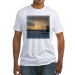 Winter Sunset 0239 Fitted T-Shirt
