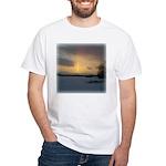 Winter Sunset 0239 White T-Shirt