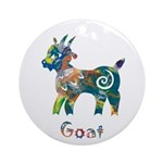 Year of the Goat Ornament (Round)