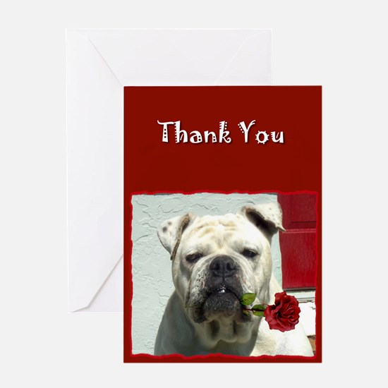 Thank You Bulldog Greeting Card