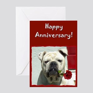 Happy Anniversary Bulldog Greeting Card