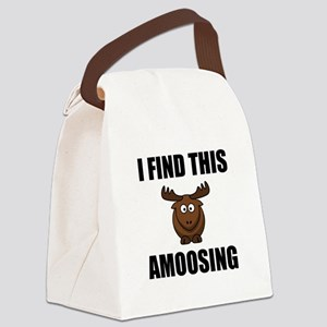 Find This Amoosing Moose Canvas Lunch Bag