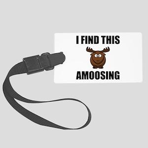 Find This Amoosing Moose Luggage Tag