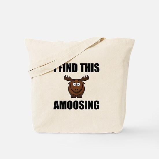 Find This Amoosing Moose Tote Bag