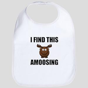 Find This Amoosing Moose Baby Bib