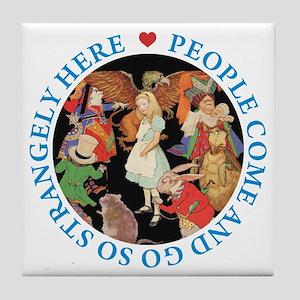 PEOPLE COME & GO Tile Coaster