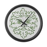 GreenMan Large Wall Clock