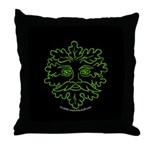 GreenMan Nite Throw Pillow