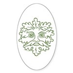 GreenMan Oval Sticker (50 pk)