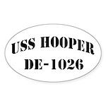 USS HOOPER Sticker (Oval 10 pk)