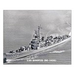 USS HOOPER Small Poster