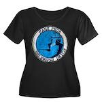 USS HOOP Women's Plus Size Scoop Neck Dark T-Shirt