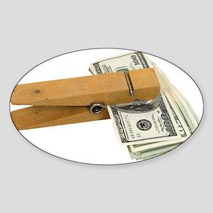 Money Reminder Oval Sticker