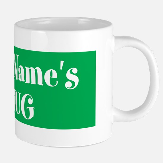 GREEN Personalized 20 oz Ceramic Mega Mug