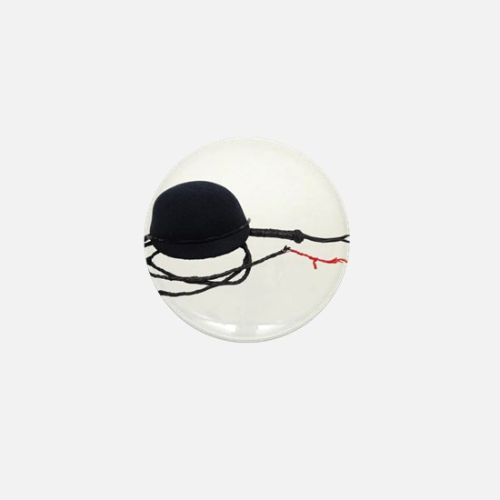 Riding Hat and Whip Mini Button