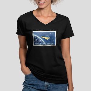 2-1980_2493_5406-sc1193 Women's V-Neck Dark T-Shir
