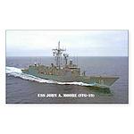 USS JOHN A. MOORE Sticker (Rectangle 50 pk)
