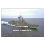 USS JOHN A. MOORE Large Poster