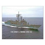 USS JOHN A. MOORE Small Poster