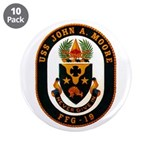 """USS JOHN A. MOORE 3.5"""" Button (10 pack)"""