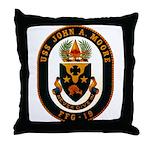 USS JOHN A. MOORE Throw Pillow