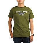 USS JOHN A. MOORE Organic Men's T-Shirt (dark)